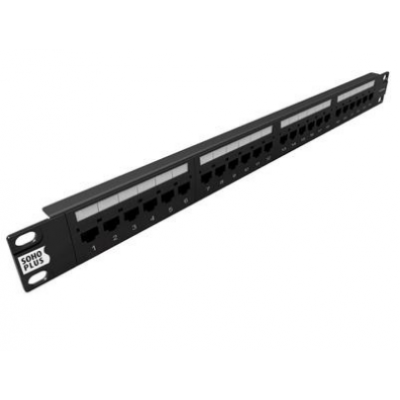 Patch Panel Cat6 24 Portas SoHoPlus
