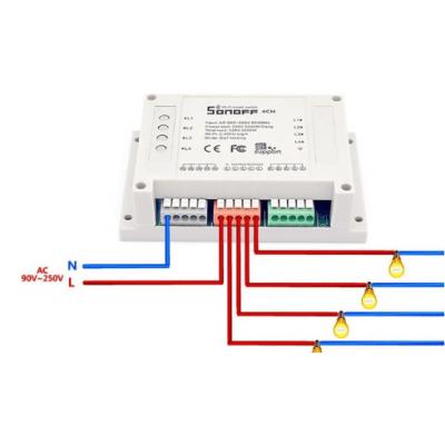 Interruptor inteligente Wi-Fi 4CHR2