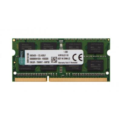 Memória Notebook  Kingston DDR3L 8Gb 1600 Mhz