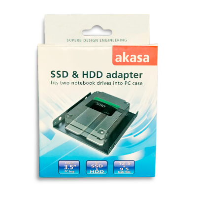 Adaptador de Baia 3.5  Para 2x Hd 2.5/Ssd Akasa  Ak-HDA03