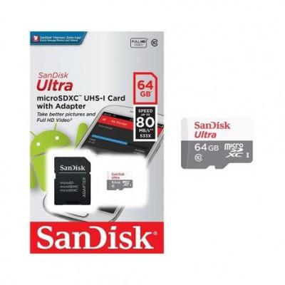 Cartão de Memória Micro SD Sandisk 64GB Class 10