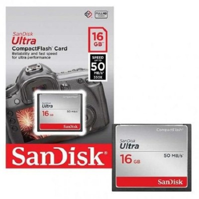 Cartão de Memória Compact Flash Sandisk 16GB Class 10