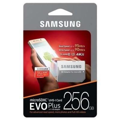 Cartão de Memória Micro SD Samsung 256GB Evo Plus Class 10