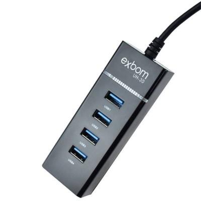 Hub USB 3.0 4 Portas Exbom