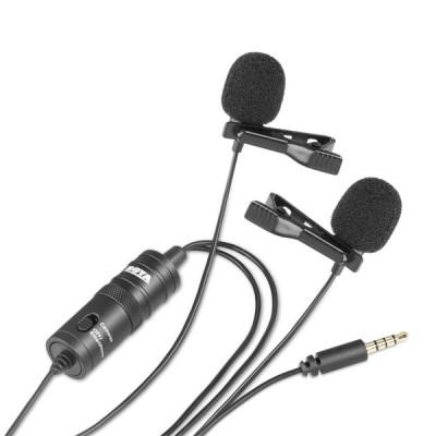 Microfone de Lapela Dual Omni Boya BY-M1DM