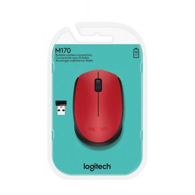 Mouse Logitech sem Fio M170 Vermelho