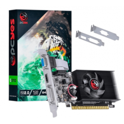 Placa de Vídeo Pcyes Nvídia Geforce G210 1Gb DDR3 64Bits