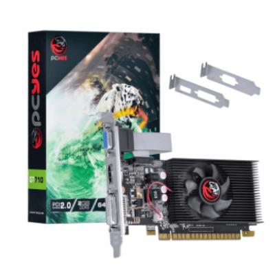 Placa de Vídeo Pcyes Nvídia Geforce GT710 2Gb DDR3 64Bits