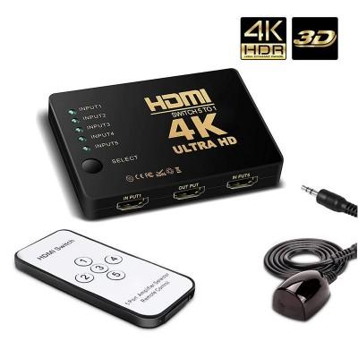 Switch HDMI 5x1 com Controle
