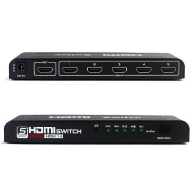 Switch HDMI 5x1 Com Fonte