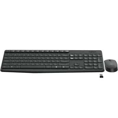 Kit Teclado e Mouse Logitech sem Fio MK235