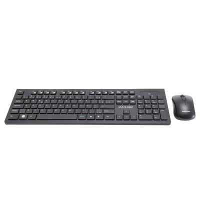 Kit Teclado e Mouse Multilaser sem Fio TC212