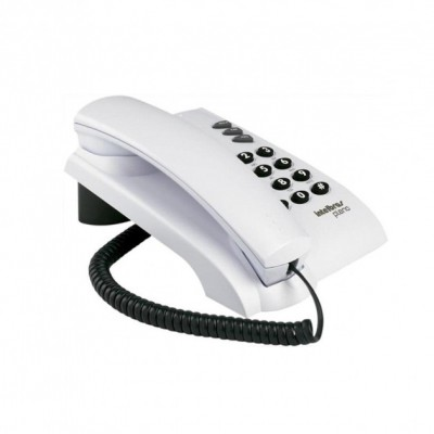 Telefone com Fio Alambrico Pleno Branco
